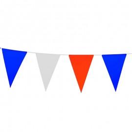 Guirlande bleu blanc rouge plastique Drapeaux Unic