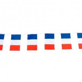 Guirlande tricolore France en tissu