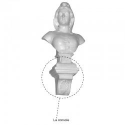 Console pour buste de Marianne artisanale Drapeaux Unic
