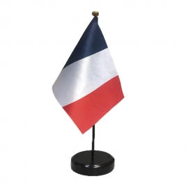 Drapeau de table France en tissu