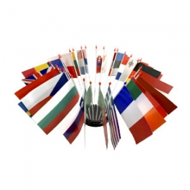 Drapeau de table plastique - Kit pays d'Europe
