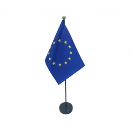 Drapeau de table Europe en tissu