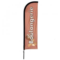Drapeau Boulangerie - Beach flag voile + mât
